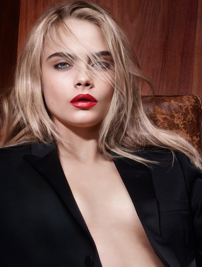 Cara Delevingne Ysl Beauty Rouge Pur Lipstick Ad Campaign