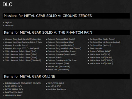 Metal Gear Solid V The Definitive Experience Anadidos
