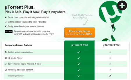 UTorrent Plus ya se puede comprar a 24.95 dólares y saldrá pronto al mercado