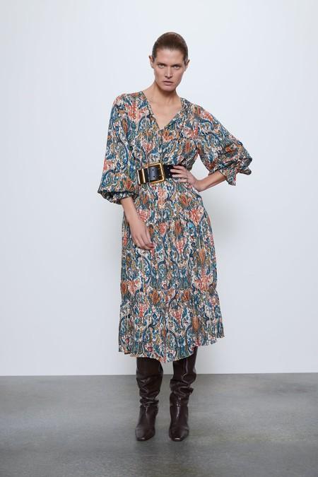 Vestido Boho De Zara