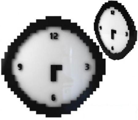 Un reloj pixelado, para tiempos de baja resolución
