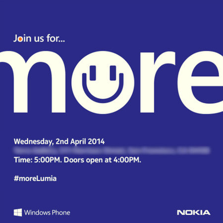 Nokia anuncia próximo evento para el 2 de abril, 'más Lumia'