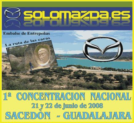 Primera concentración nacional de coches Mazda