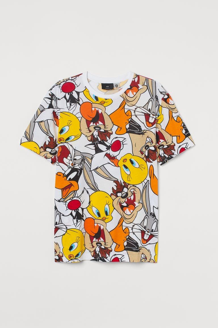 Camiseta corte regular con estampado de Warner Bros.