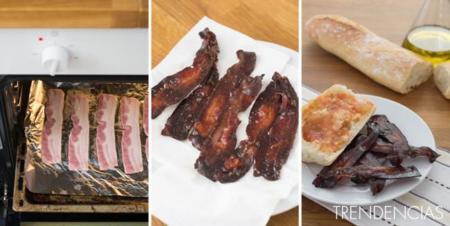 Auténtico bacon crujiente