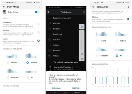 Ajustes Audio Huawei P30