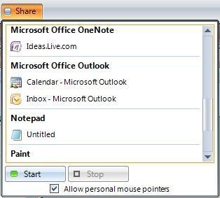 Microsoft SharedView, compartiendo el escritorio