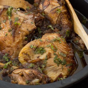 Receta de pollo balsámico lista en diez minutos