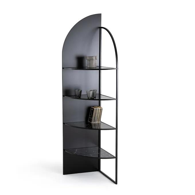 Estantería rinconera de metal y vidrio, Palazzo