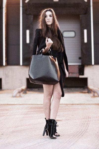 vestido negro streetstyle