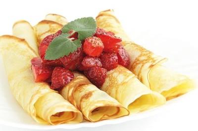 Crêpes de frutas y All-Bran® Flakes