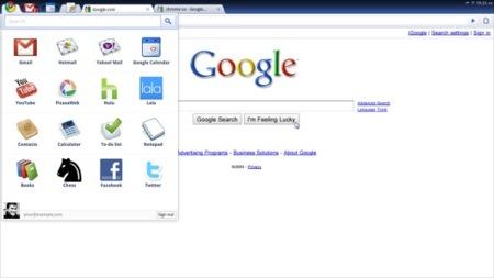 Menú de aplicaciones de Chrome OS