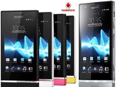 Precios Sony Xperia U y Sony Xperia P con Vodafone