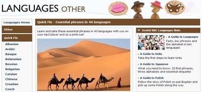 BBC Quick Fix, vocabulario y frases prácticas en 40 idiomas