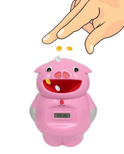 Un cerdo hucha que cuenta tus ahorros
