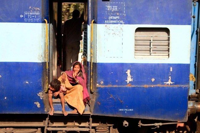 India, en Tren