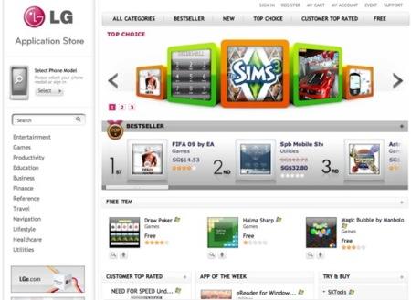 LG Application Store, tienda de aplicaciones online