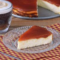 Tarta de queso con dulce de membrillo y pomelo. Receta de postre