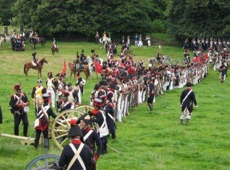Reconstrucción de la Batalla de Waterloo