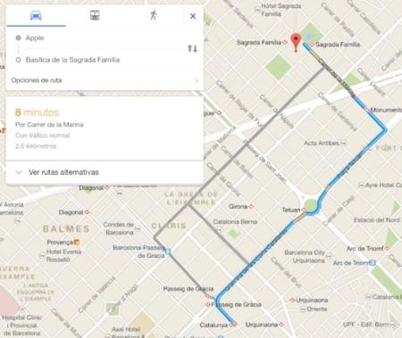 google maps ruta