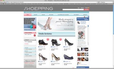 Colección de zapatos Shoepping para comprar por Internet