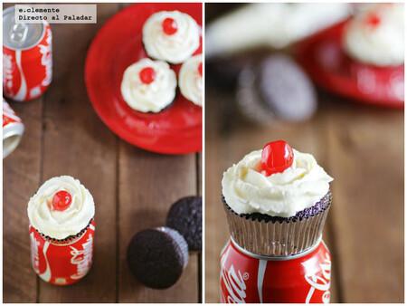 Receta de cupcakes de Coca-Cola, para amantes del chocolate