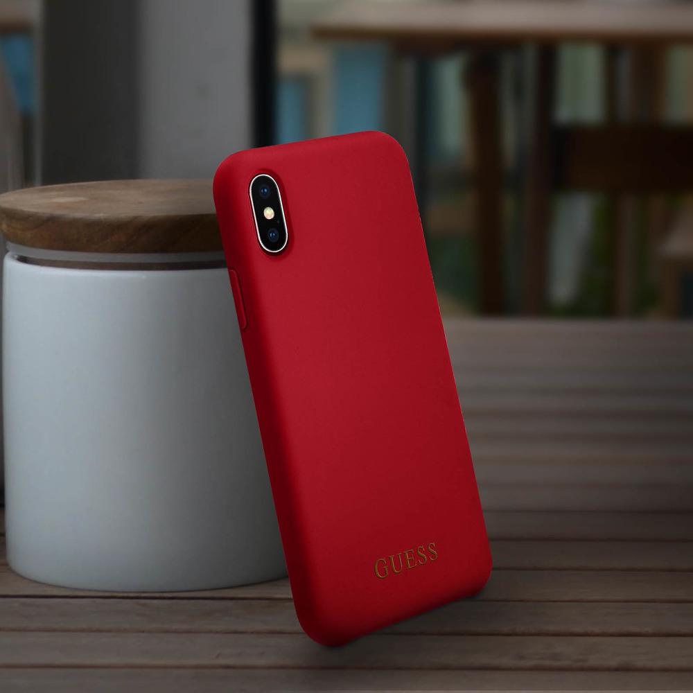 Carcasa protectora iPhone XS Max Bumper Rígida GUESS - Roja