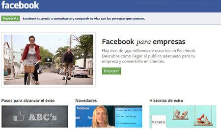 Facebook rediseña su página de orientación a las empresas y la adapta a la pyme