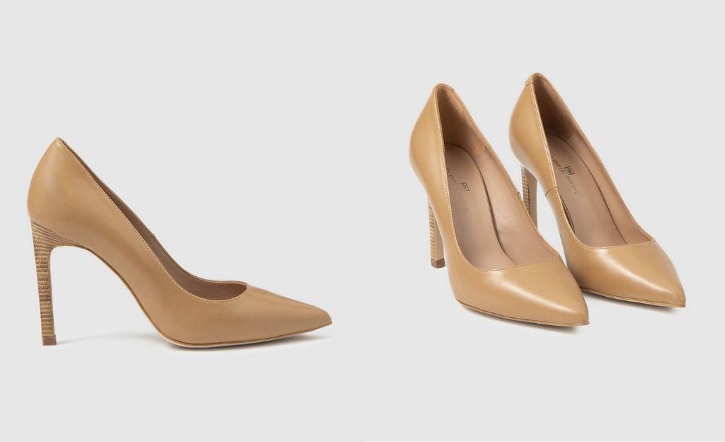 Zapatos de salón de mujer Gloria Ortiz en napa de color marrón claro