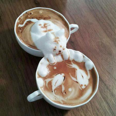 Asómbrate con este arte en latte en 3D