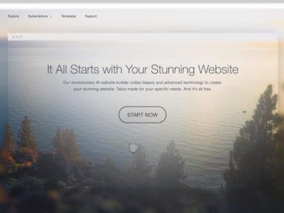Este servicio utilizará la Inteligencia Artificial para crear automáticamente una web que se adapte a ti