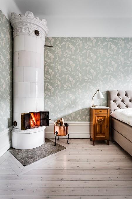 Chimenea en apartamento en Estocolmo