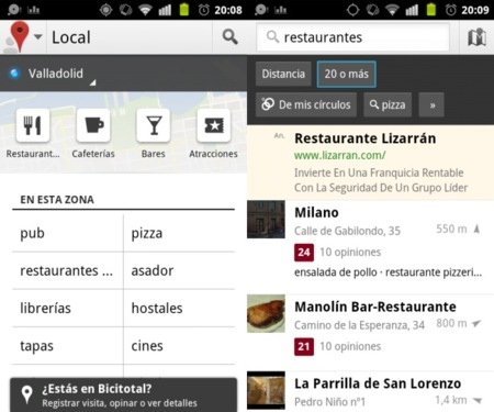 Google Local for Android