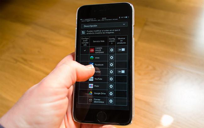 Acceso a Canon Gateway desde el móvil