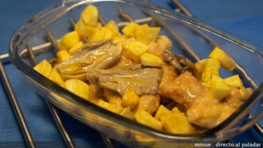 Receta de pollo al limón con setas