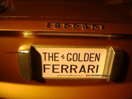 The Golden Ferrari Pininfarina