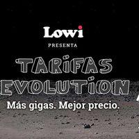 Tarifas Evolution en Lowi: fibra 100MB + móvil por 38,95 euros y 25GB gratis hasta fin de mes