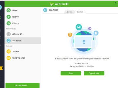 AirDroid hace copias de seguridad de tus fotos en tu PC