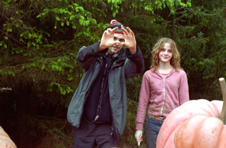 Alfonso Cuaron en el rodaje de Harry Potter y el Prisionero De Azkaban