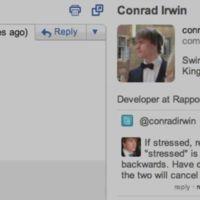 Rapportive se integra aún más con Twitter: retweets y mensajes sin salir de Gmail