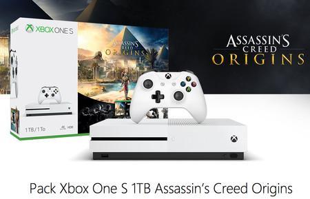 Pack Xbox One S 1TB + Assassin's Creed Origins con 55 euros de descuento y envío gratis