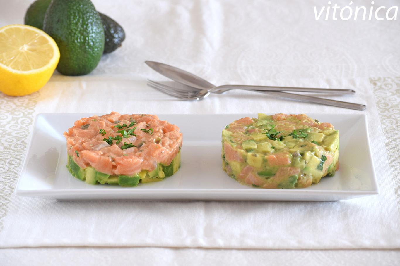 Tartar de salmón y aguacate: receta saludable