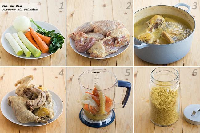 Receta de sopa de pollo casera paso a paso