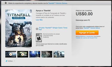 El Season Pass De Titanfall Para Pc Tambien Es Gratis Pero Solo Para Los Que Obtuvieron La Version Stardar 00