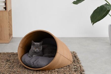 Cama ovalada de gato