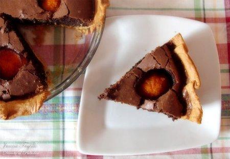 Tarta de chocolate y albaricoque. Receta