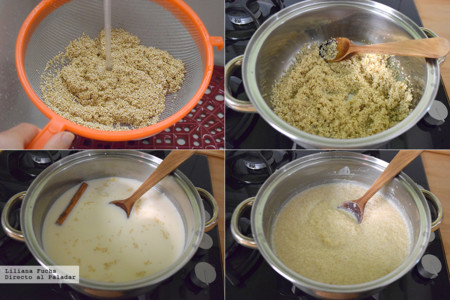 Receta dulce de quinoa con leche