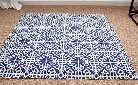 Fabric Covered Card Table