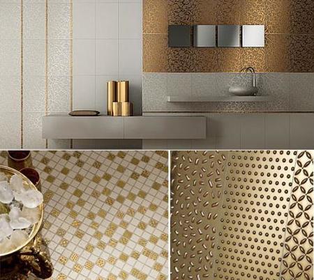 Feel, una colección de azulejos en oro y platino