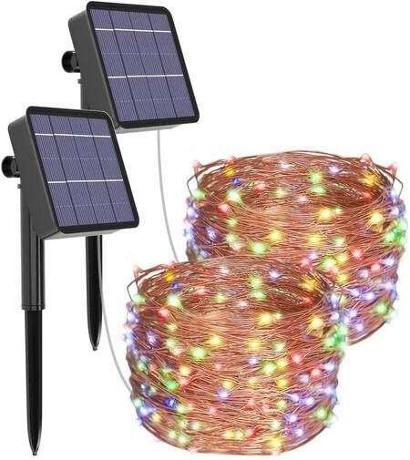 Guirnaldas de luces multicolor solar